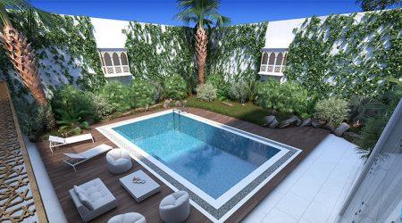KhalidVilla Pool Interior Design
